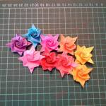 Origami Little Rose, Paula O. | TUTORIAL: http://wp.me/p5AUsW-PA
