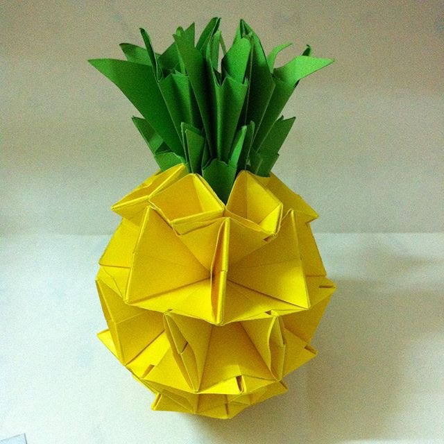 Origami Pineapple @origami_great (Instagram) | TUTORIAL: http://wp.me/p5AUsW-5a