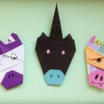 Origami Unicorn Bookmark, @xhappymailx (Instagram) | TUTORIAL: http://wp.me/p5AUsW-Xc