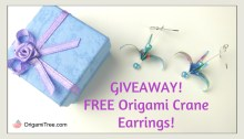 Origami Crane Earrings Giveaway thumbnail