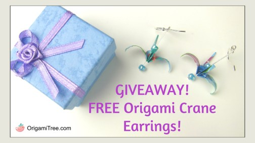 Origami Crane Earrings Giveaway thumbnail