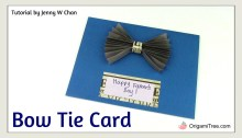 Bow Tie Card OrigamiTree.com How to Make A Card Thumbnail