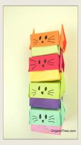 Origami Stacking Cat Boxes Portrait OrigamiTree.com Origami Tutorial
