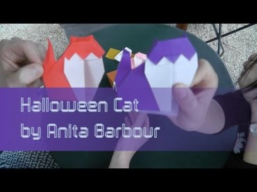 Halloween Cat Barbour Sara Adams Happy Folding Thumbnail