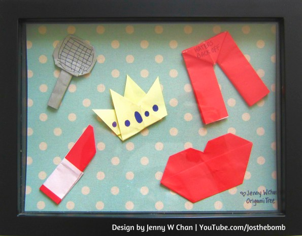Miranda Sings Origami Framed Jenny W Chan Origami OrigamiTree.com