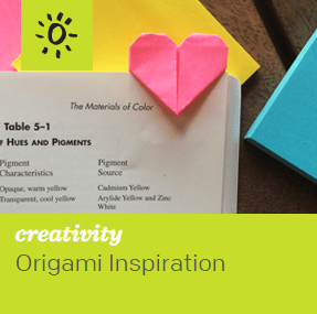 Post it Note Heart Bookmark Origami Inspiration Article Thumbnail