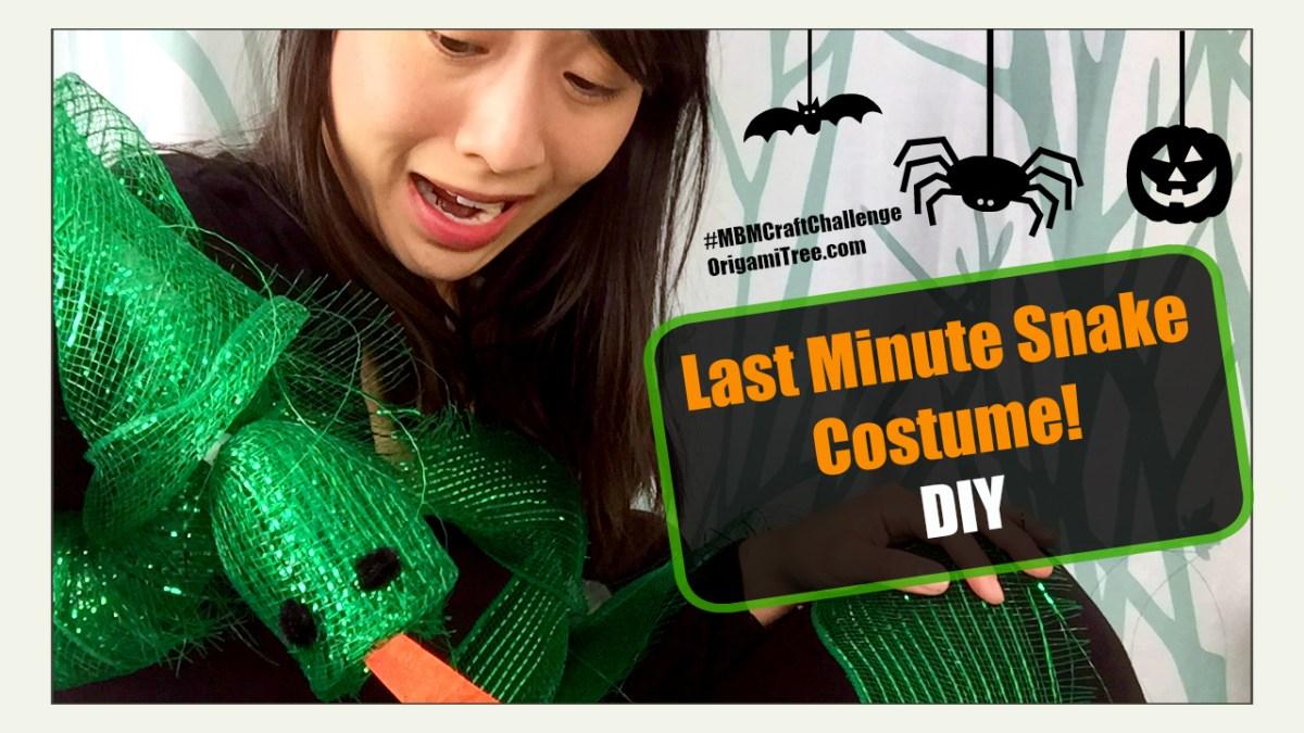 Snake Costume Tutorial - #MBMCraftChallenge