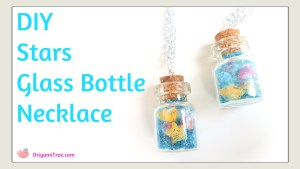 Stars in glass bottle necklace thumbnail