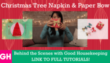 Good Housekeeping Christmas Tree Napkin Paper Bow Thumbnail