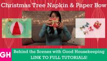 Good Housekeeping Christmas Tree Napkin Paper Bow Thumbnail