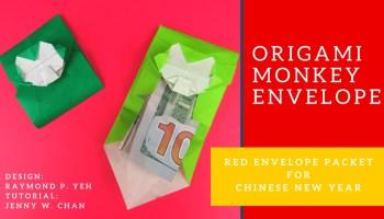 Origami Monkey Envelope Tutorial