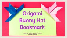origami rabbit bookmark - bunny bookmark - origami bookmark tutorial