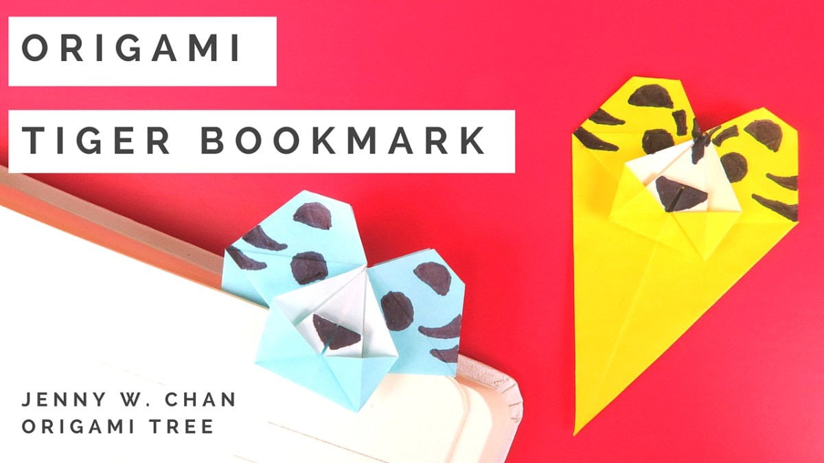 Origami Tiger Bookmark