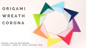 Origami Paper Wreath Corona Origami Tutorial