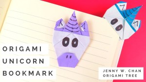 origami unicorn bookmark tutorial jenny w. chan origami tree