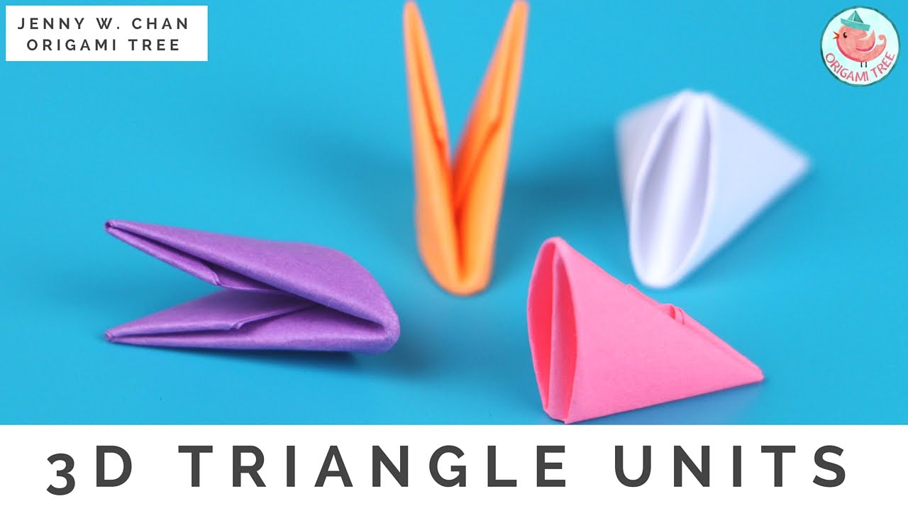 3D Origami Triangle Units For Modular OrigamiTree