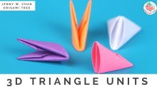 3D Origami Triangle Pieces Tutorial by Jenny W Chan Origami Tree