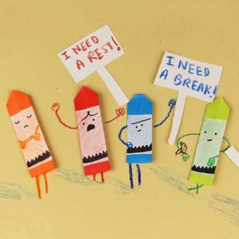 Origami Crayon - The Day The Crayons Quit10