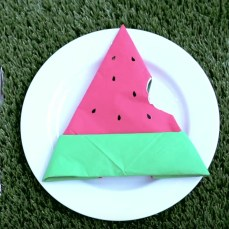 napkin folding watermelon