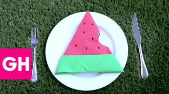napkin folding watermelon