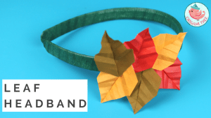 Origami Leaf Tutorial - Leaf Headband - Origami Tree