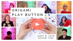 Origami Play Button YouTube Jenny W Chan Origami Tree