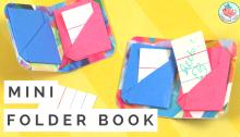Origami Mini Book - Folder Book