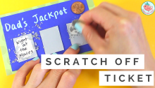 DIY Scratch off Ticket