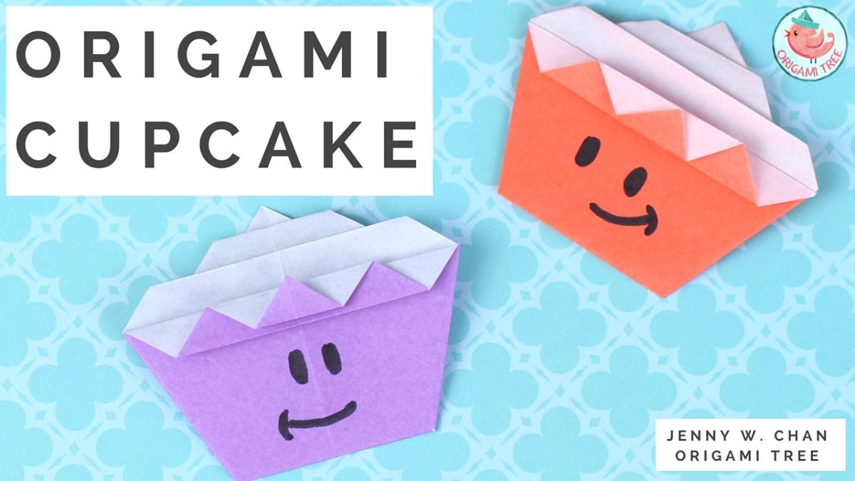 Origami Cupcake Tutorial
