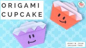 Origami Cupcake Tutorial | Jenny W. Chan, Origami Tree
