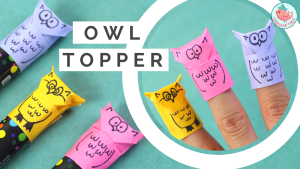 Origami Owl Finger Puppet | Tutorial by Jenny W. Chan, OrigamiTree