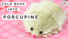 Book Folding Porpucine or Hedge Hog Tutorial