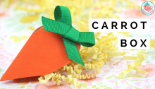 carrot gift box tutorial | Jenny W. Chan Origami Tree