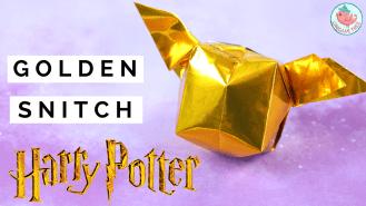 origami golden snitch - jenny w chan, origami tree