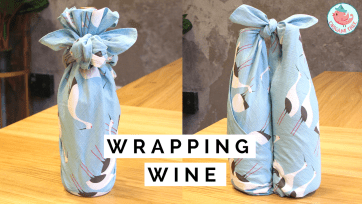 wine bottle wrapping tutorial | Jenny W. Chan Origami Tree