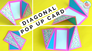 Diagonal Fold Pop Up Card Tutorial, Jenny W. Chan, Origami Tree
