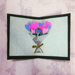 Pop Up Heart Bouquet Card, diyqueen15 | TUTORIAL: http://wp.me/p5AUsW-1CR