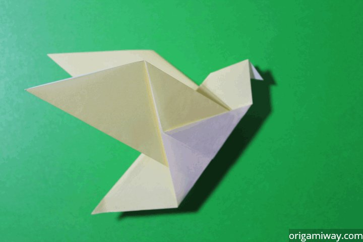 origami flower diagram in english ac dc converter circuit instructions way easy bird difficulty