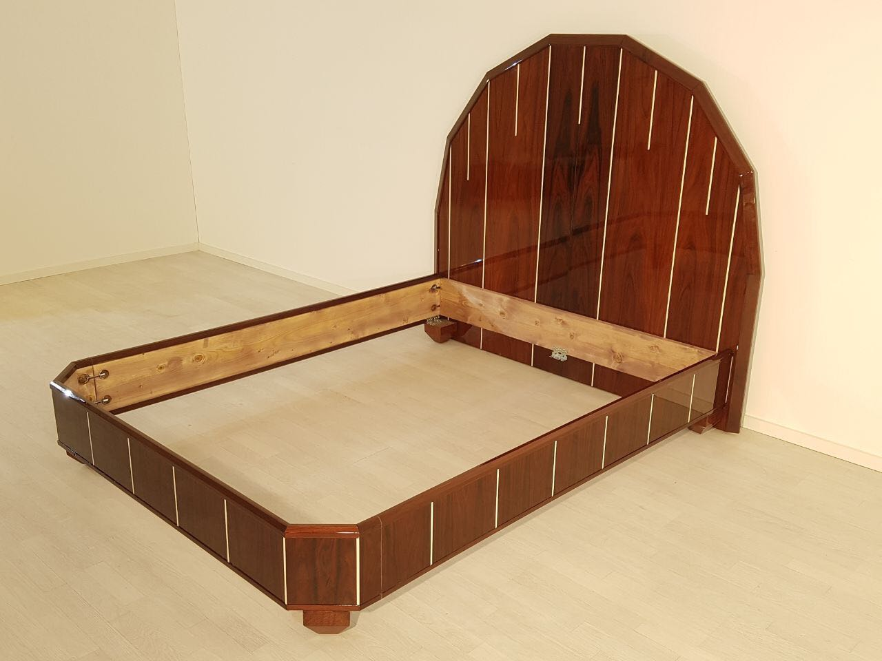 Art Deco Bed made of Palisander Wood