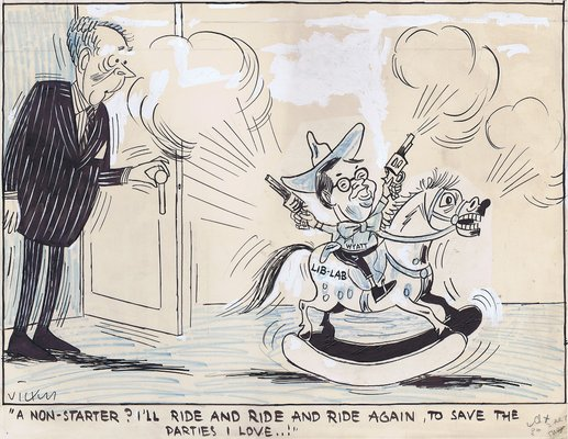 """A non-starter? I'll ride and ride and ride again, to save the parties I  love ...!"""" - Cartoon Gallery"""