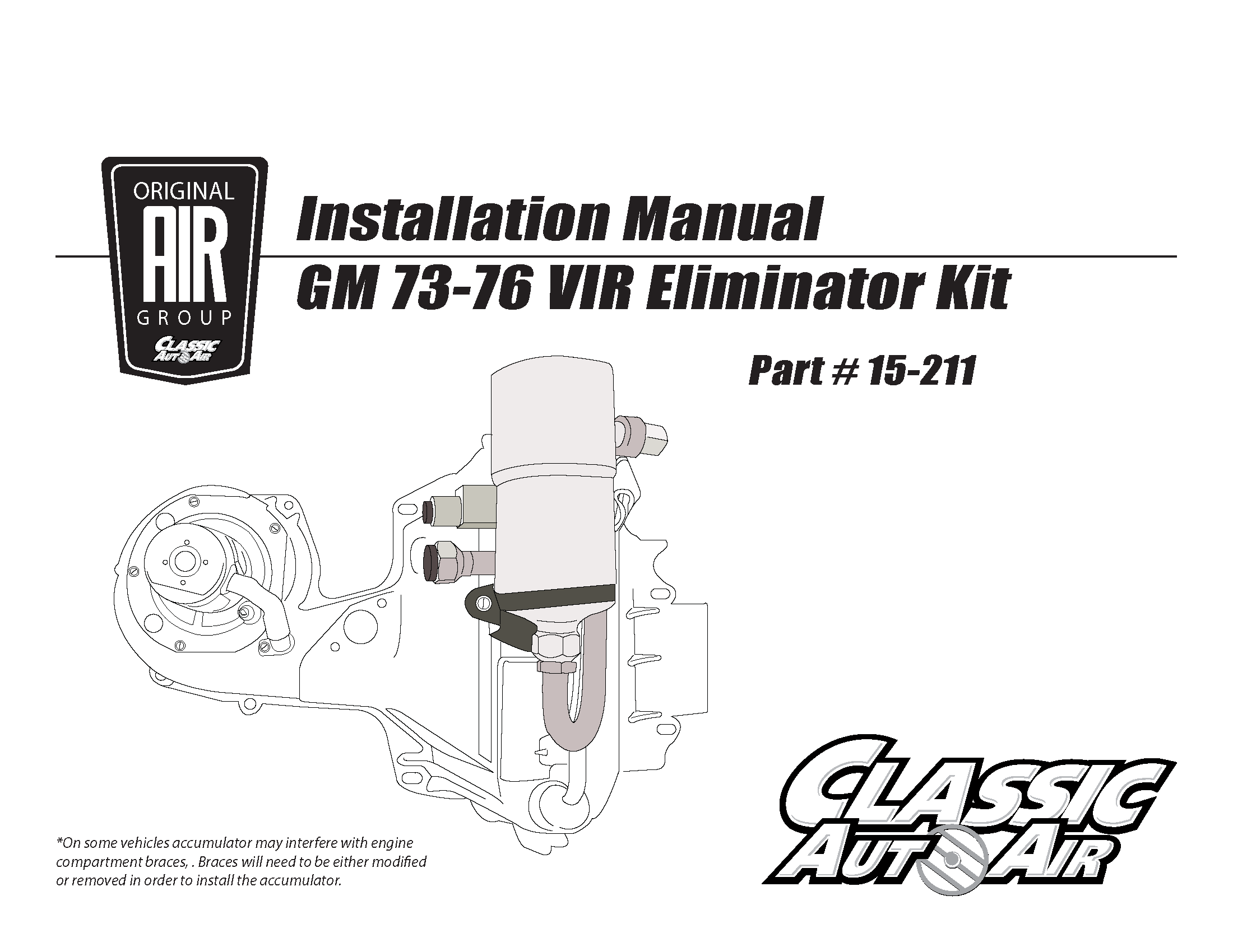 73 76 Gm A C Vir Eliminator Kit