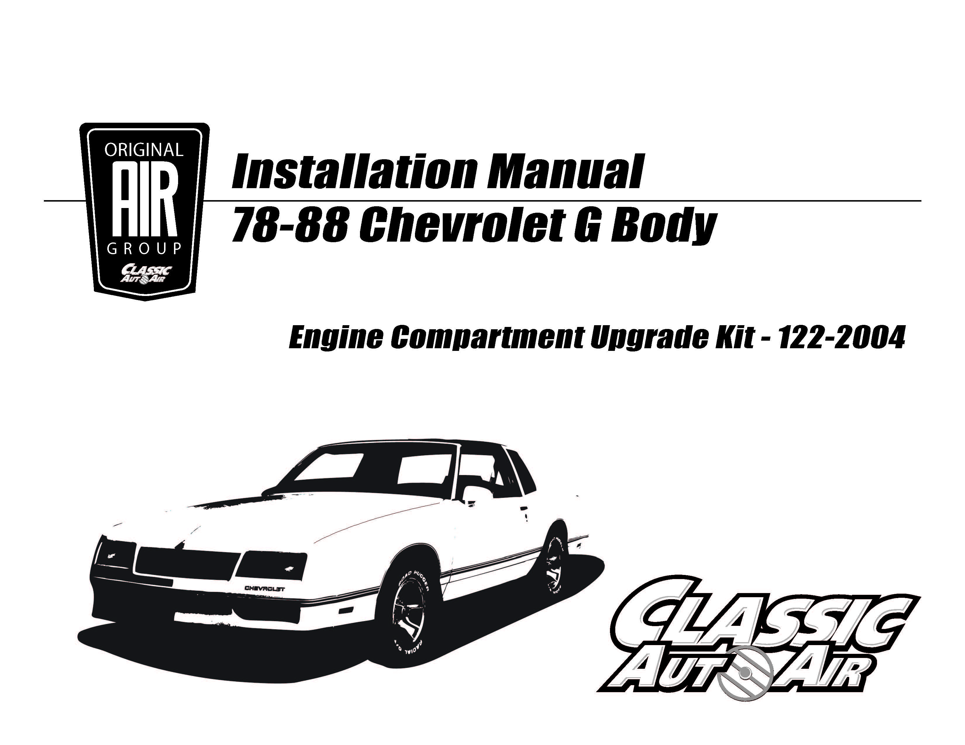 81-88 GM A & G-Body A/C Performance Upgrade Kit w/CHEVY V8