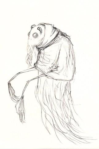 Alien sketch: Tentacled crustacean