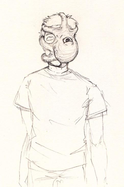 Alien sketch: Parasitic squid