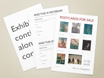 Various signage and stationery for a photography exhibition