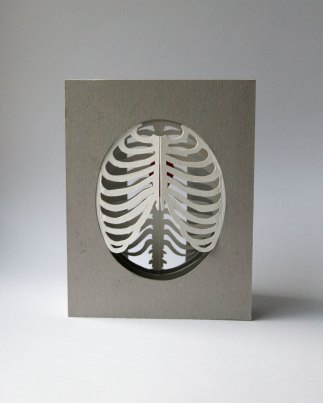 'Cardiothoracic' tunnel book/card: ribs closed