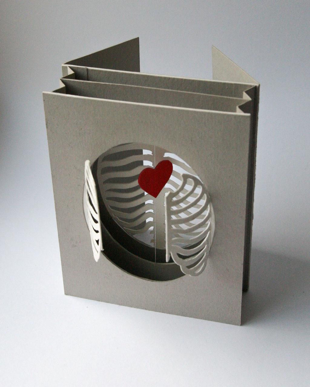 'Cardiothoracic' tunnel book/card