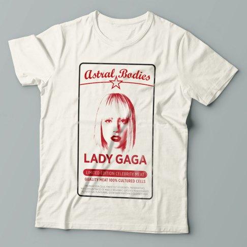 Lady Gaga - Antiviral mashup design on a t-shirt
