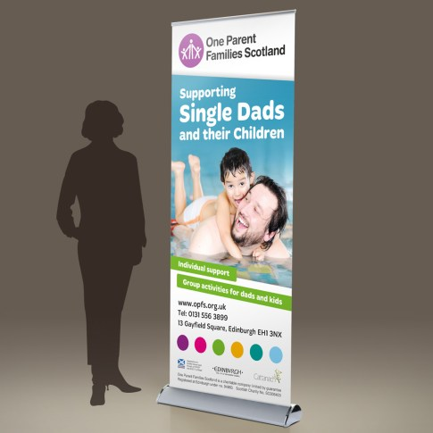 OPFS Fathers' Service pull-up banner design 2