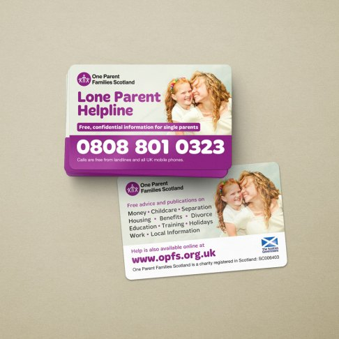 OPFS promotional helpline cards